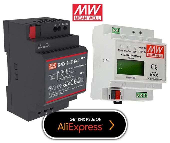 Quality Mean Well power supplies for KNX