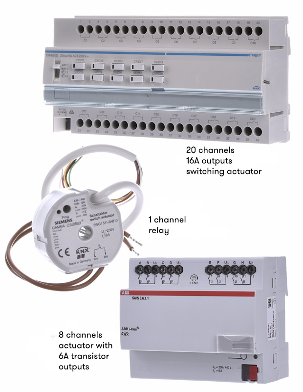 KNX switching actuators