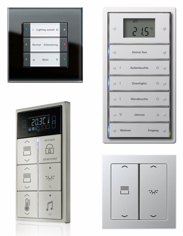 KNX switches, buttons and terminals